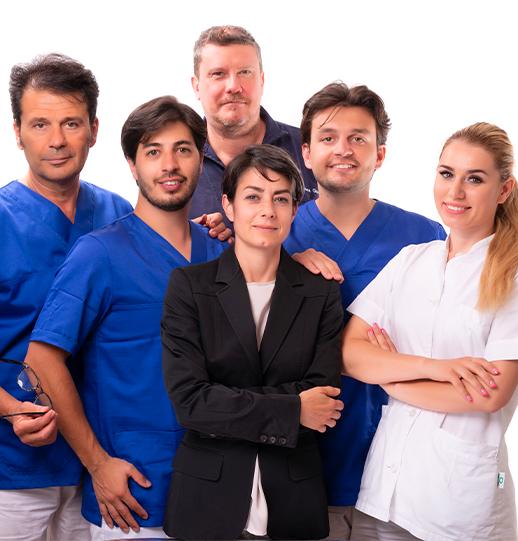 il team della clinica odontoiatrica a milano